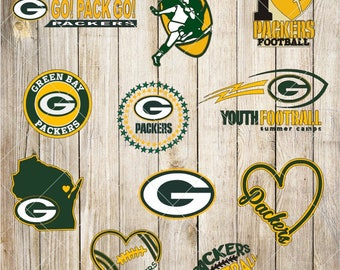 Green Bay Packers SVG EPS DXF Logo Layered Vector Cut File Silhouette Studio Cameo Cricut Design Template Stencil Vinyl Decal Transfer Iron