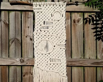 Macrame wall hanging, woven wall hanging, woven wall tapestry, macrame, boho home decor, textile hanging