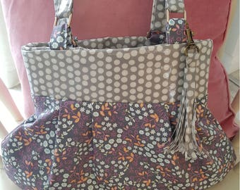 Pretty Fabric, floral, print bag, PVC interior, handbag, shopping bag
