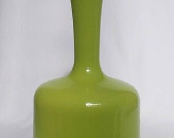 Pistachio Scandinavian Cased 1950s/60s Vase