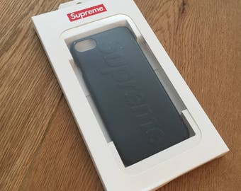 Supreme Black High Shine iPhone 7 case