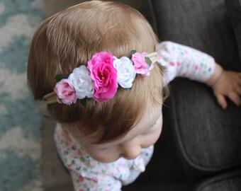 Pink Roses Flower Crown - Photo Prop