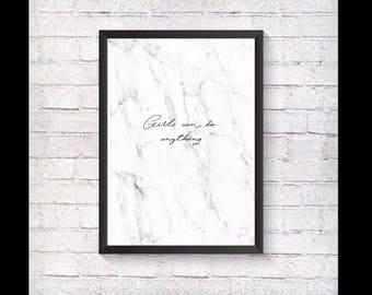 GRL PWR Marble Print