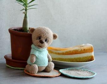 Teddy Bear, Hand Knitted Bear, Knitted Bear for Children, Baby Bear