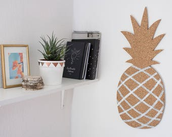 Pineapple Cork Bulletin Board, memo Board, the silver