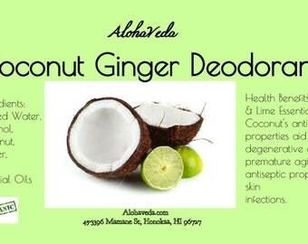 Coconut Ginger Deodorant