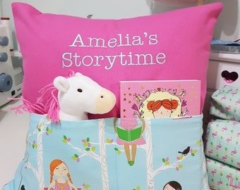Story time Cushion - including book and toy.