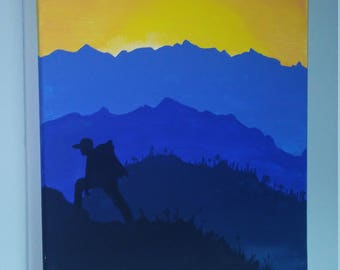 The Wanderer - Original 11 x 14 Acrylic Painting on Stretched Canvas
