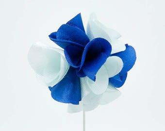Karen Blue Flower Lapel Pin