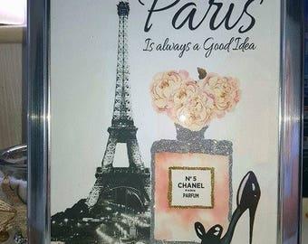 Paris Glitter Picture