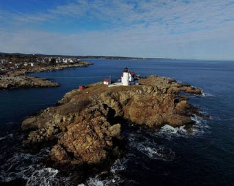 Aerial View of Nubble Lighthouse