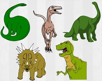 Dinosaur SVG Bundle, Dinosaur clipart, Dinosaur cut files, T Rex svg files for silhouette, files for cricut, svg, dxf, eps, cuttable design