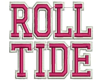 Alabama Roll Tide machine embroidery design Crimson Tide Football