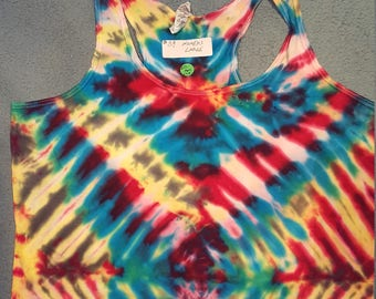 tie dye tank top womens XL