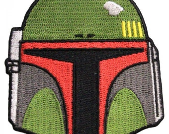 Official Disney Star Wars Boba Fett Helmet Bounty Hunter Iron On Embroidered Lucas-film Patch