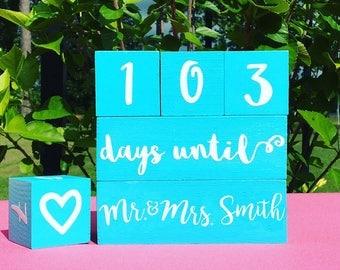Custom Wedding Countdown Blocks