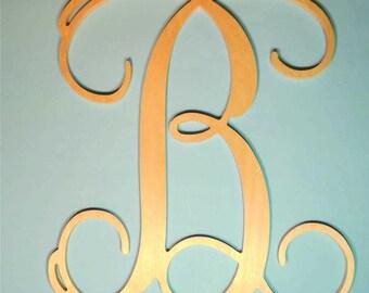 Single wooden letter