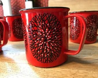 Vintage Scandinavian Mugs set of 6