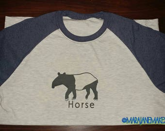 Tapir Horse Shirt