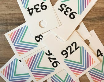 250 live sale number tags