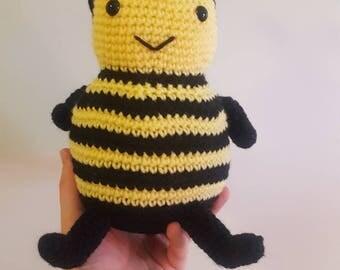 Cute bee toy~ Handmade stuffy~ Bumble bee crochet doll
