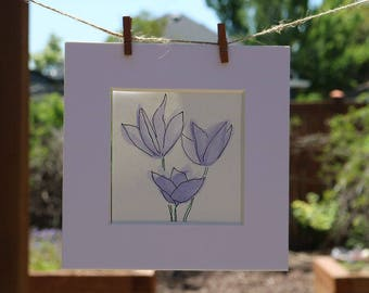 Spring Trio Flowers | Watercolor Print