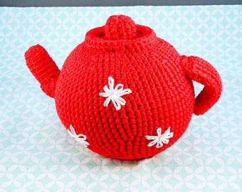 crochet tea pot//dolls crockery//crochet//doll tea set