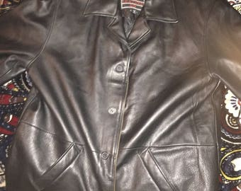 Vintage lucky brand leather jacket