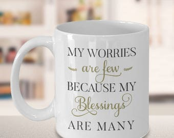 Unique Coffee Mugs, gift for him, gift for her, family gift ideas, gift ideas for mom, gift ideas for dad, my blessings are many