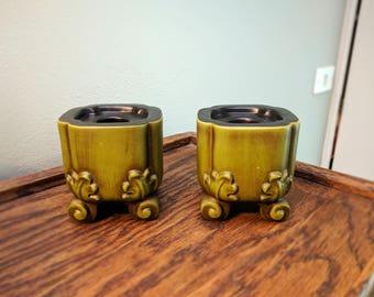 Vintage Haeger Candleholder Set