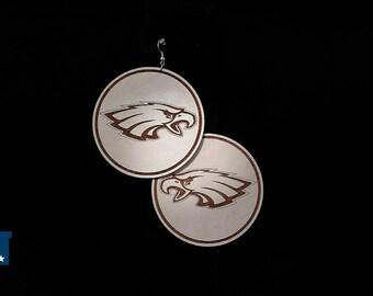 Philadelphia Eagles Wooden Dangle Drop Earrings