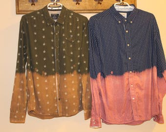 Dip Bleached Shirts, Patterned