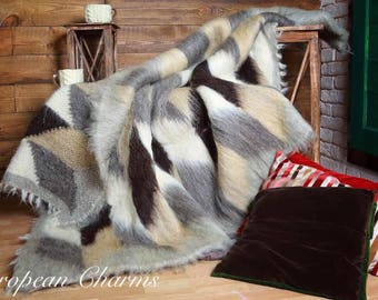 Hand made 100% sheeps wool blankets from the Carpathian Mountains.