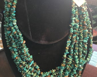 Necklace turquoise and silver