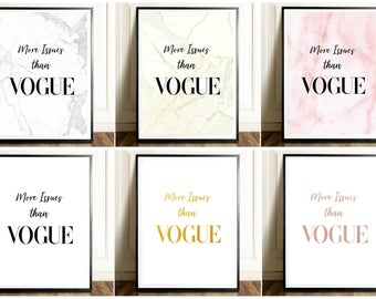 6 Printables- More Issues than Vogue