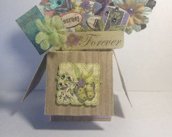Pop Up Box Card - Forever in Wood