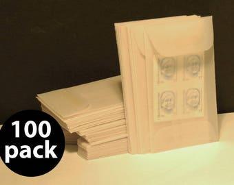 Translucent Vellum Mini Envelope 2-1/4 x 3-3/4, 100 Pack