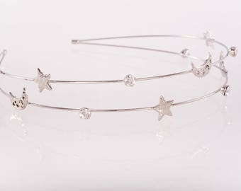 Ultra lightweight Flower girl hair accessories, child crystal headband, girls jewelled headband, flower girl headband, Gifts for girls,