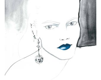 Blue Lips Limited Edition Print 1 of 25