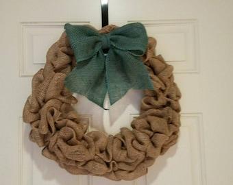 Classic Burlap Wreath