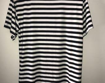 Striped Scallop Shirt
