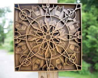"Wall Art ""Alberta"" Layered Wood Design"