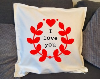 Valentines ' i Love you' cushion cover