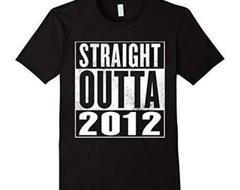 Kids 4th Birthday Gift T-Shirt Straight Outta 2012 For Kids