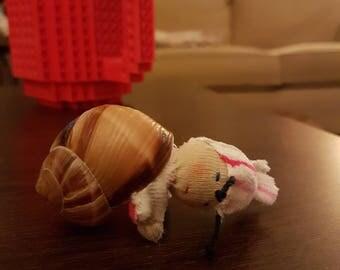 tiny snail person