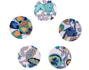 Buttons liberty Mythical Forest - B, set of 5, size optional