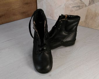 Military boots, Vintage boots, Leather boots, Combat boots, Women military boots, Black military boots, Military shoes