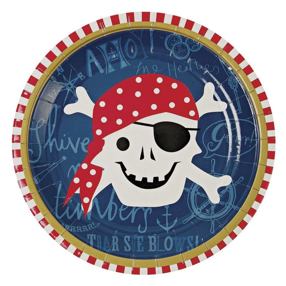 Pirate Party Paper Plates Pirate Decorations Pirate Party Pirate Birthday Pirate Tableware Meri Meri Ahoy There from supersweetparty on Etsy Studio  sc 1 st  Etsy Studio & Pirate Party Paper Plates Pirate Decorations Pirate Party Pirate ...