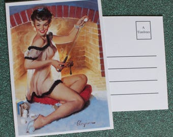 Gorgeous card pin up vintage postcard to send your sweet words.