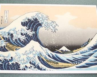 The great wave of Kanagawa Hokusai. Poster on matte paper 180.